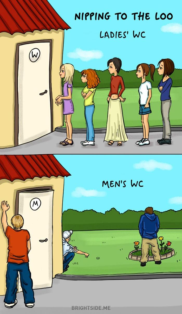 Жінки vs чоловіки: 14 яскравих відмінностей у коміксах - фото 4