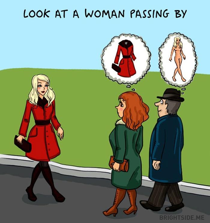 Жінки vs чоловіки: 14 яскравих відмінностей у коміксах - фото 11