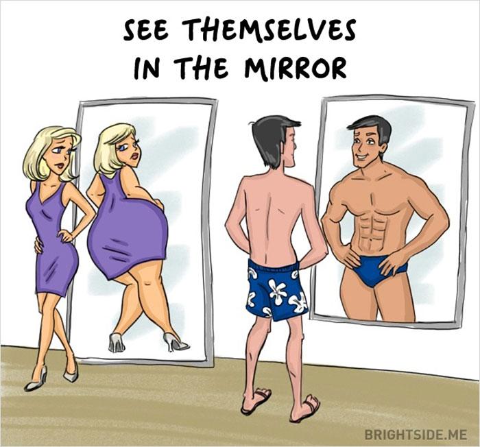 Жінки vs чоловіки: 14 яскравих відмінностей у коміксах - фото 9