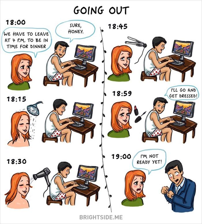 Жінки vs чоловіки: 14 яскравих відмінностей у коміксах - фото 1