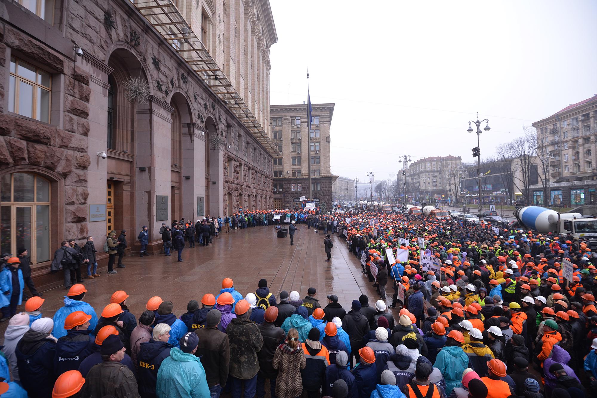 5 тисяч будівельників пікетували КГГА – домовилися про стіл переговорів - фото 3