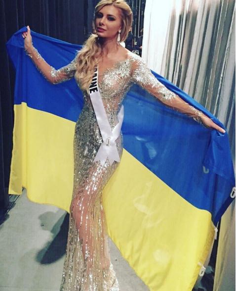 """""""Міс Україна Всесвіт"""" огорнулась у прапор, та залишилась без корони - фото 1"""