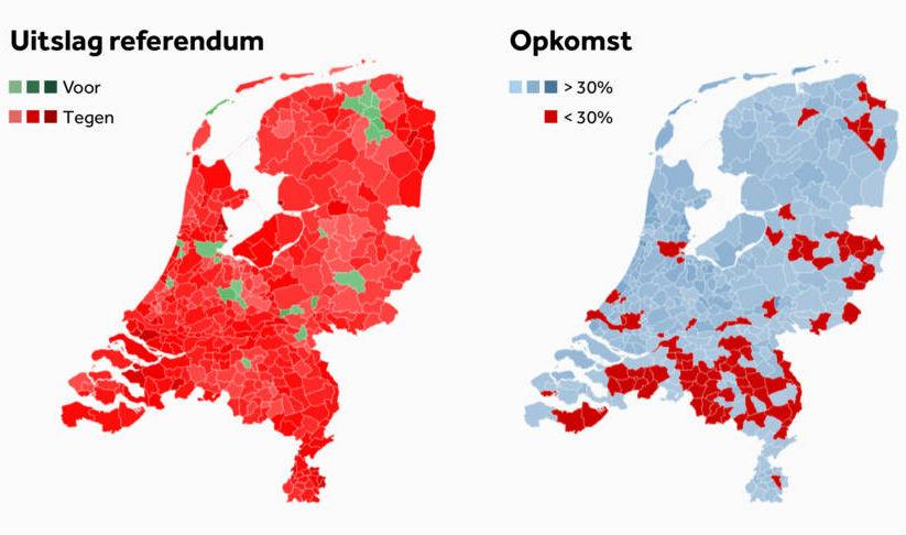 Як голосували в Нідерландах: за Україну Вагенінген, проти – Урк (КАРТА) - фото 1