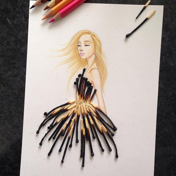 Американець створює сукні з сірників та гранату - фото 1