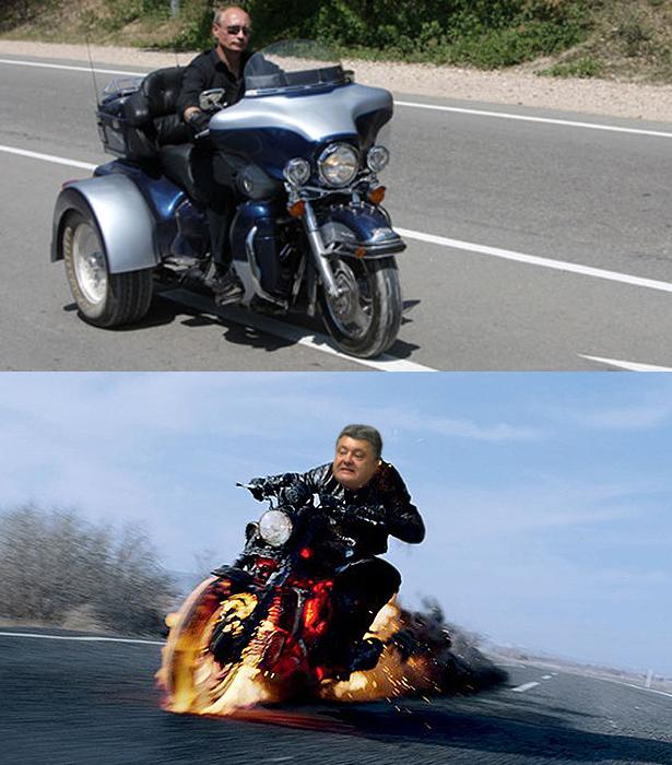 Порошенко-Путін. Президенти різні - піарщикі однакові (ФОТОЖАБИ) - фото 8