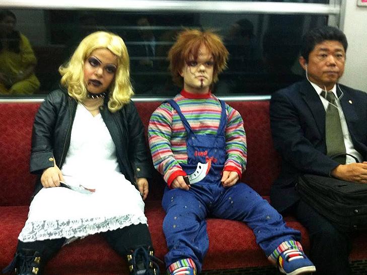 35 неймовірних диваків у метро - фото 10