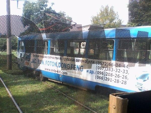 На Салтівці трамвай не втримався на рейках - фото 1
