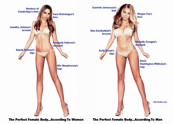 Як по-різному бачать ідеальне тіло жінки та чоловіки - фото 1