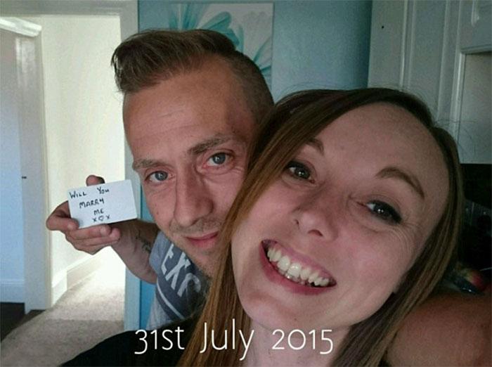 Як чоловік за допомогою фото майстерно приховував пропозицію одруження місяцями - фото 1
