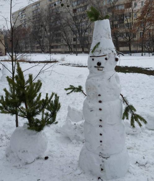 Красені і чудовиська: ТОП-10 оригінальних сніговиків - фото 6