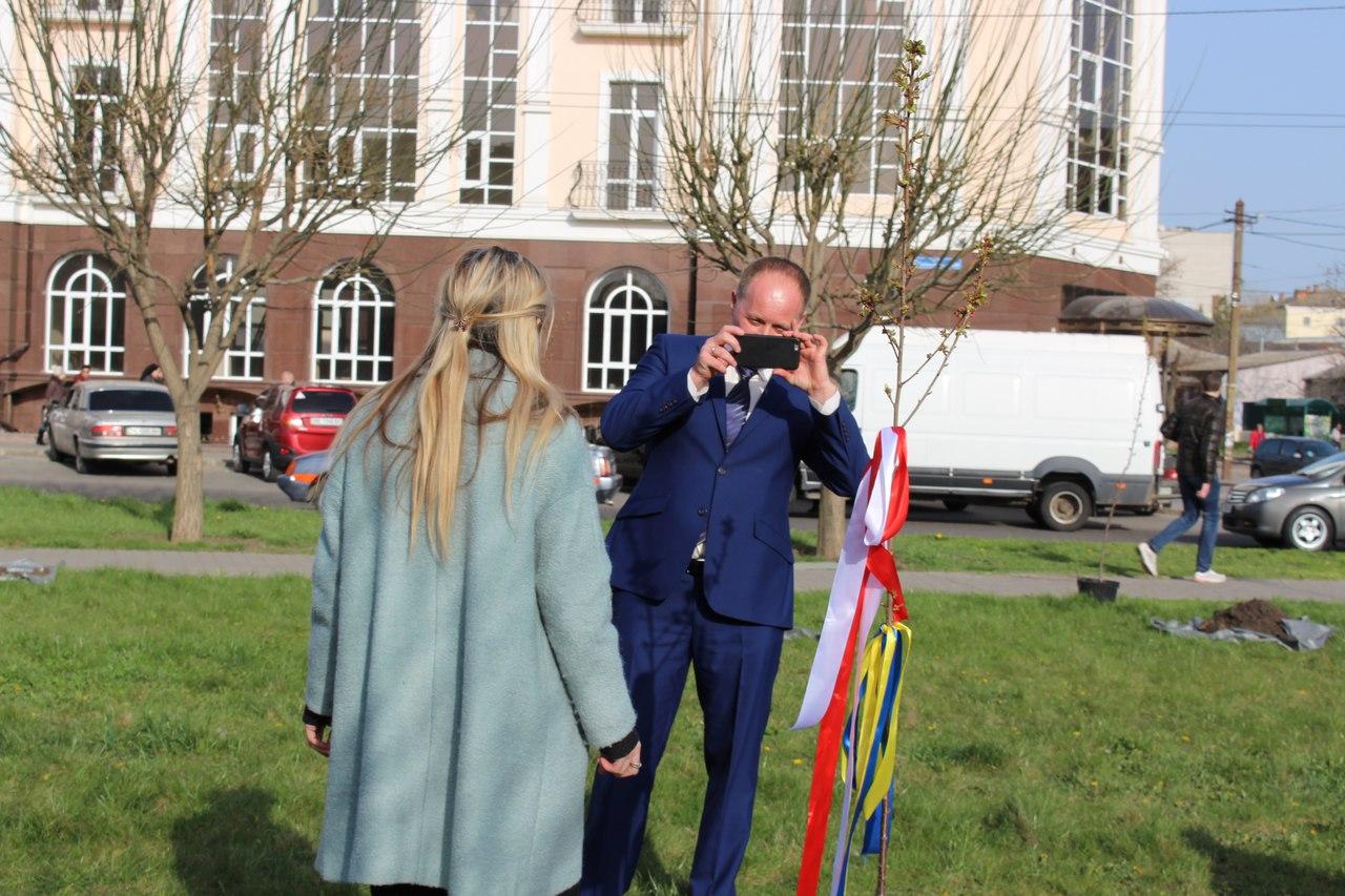 Миколаївський сквер Ради Європи поповнили 24 сакурами