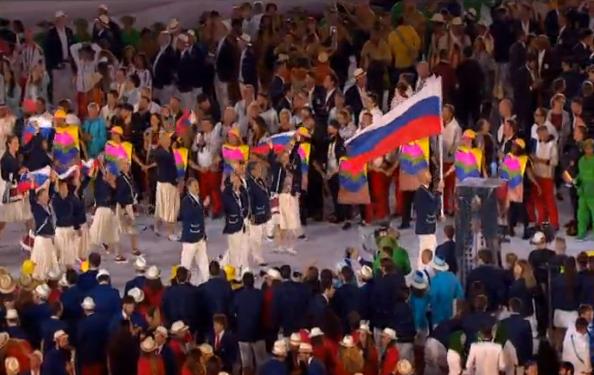 Як принижена допінгом Росія вийшла на церемонії Олімпіади-2016 - фото 1