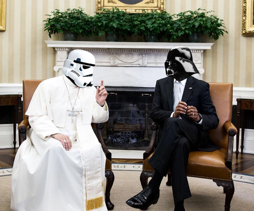 Як виглядали б Дарт Вейдер, майстер Йода та Чубака у ролі світових лідерів  - фото 1