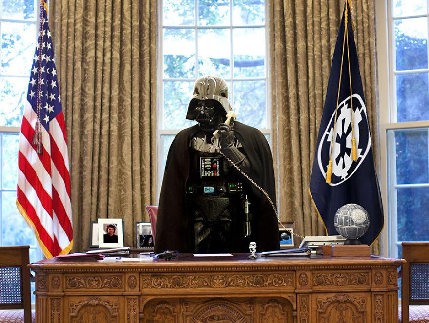 Як виглядали б Дарт Вейдер, майстер Йода та Чубака у ролі світових лідерів  - фото 8