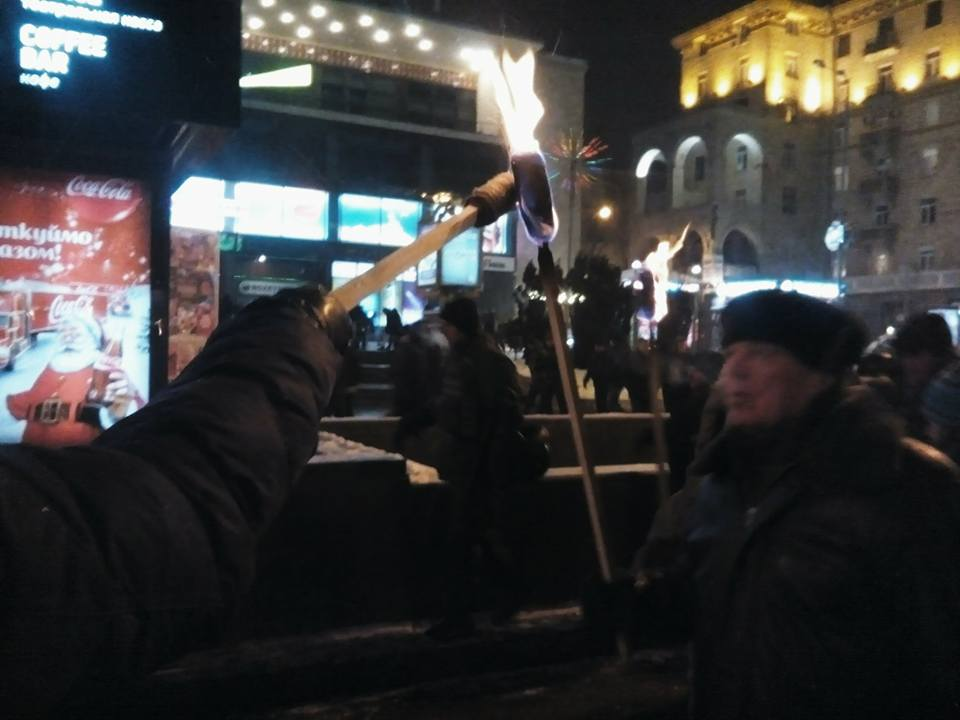 """Як """"Свобода"""" зі смолоскипами крокує Києвом - фото 2"""
