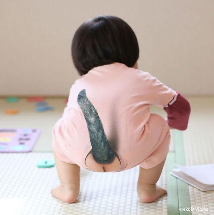Японці вигадали новий одяг для малюків із голими сідницями та котячим хвостом - фото 3