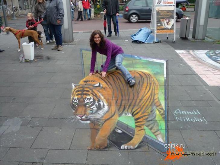 40 неймовірних 3D малюнків на асфальті - фото 6