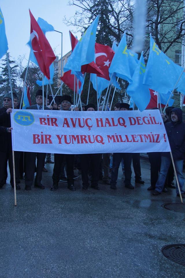 Як у Туреччині протестували проти окупації Криму - фото 1