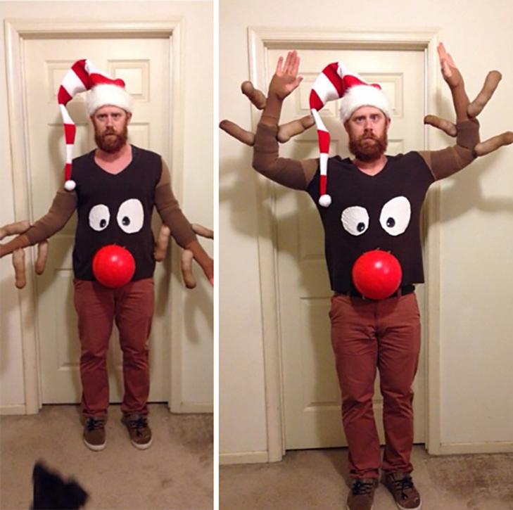 Смешной костюм к новому году