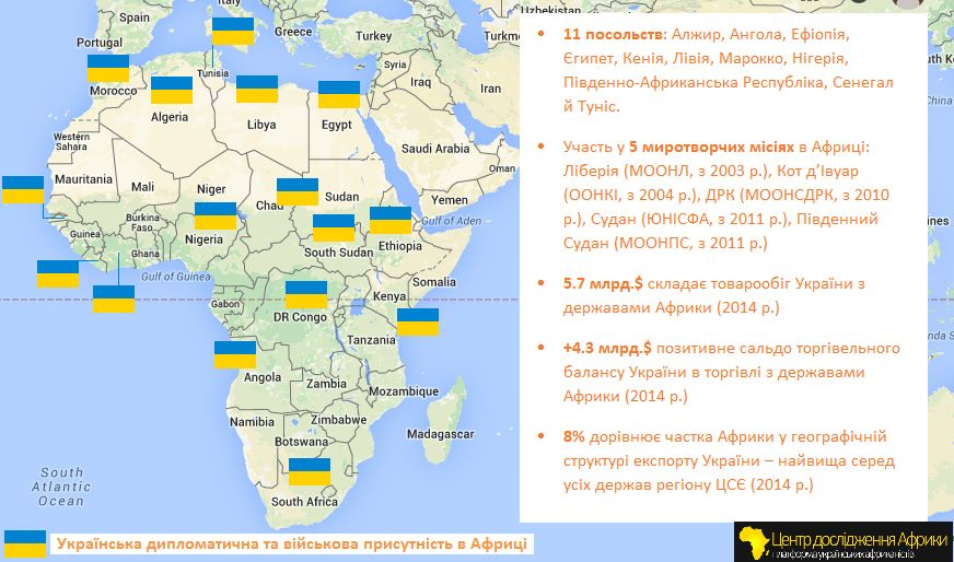 З'явилася карта присутності України в Африці - фото 1