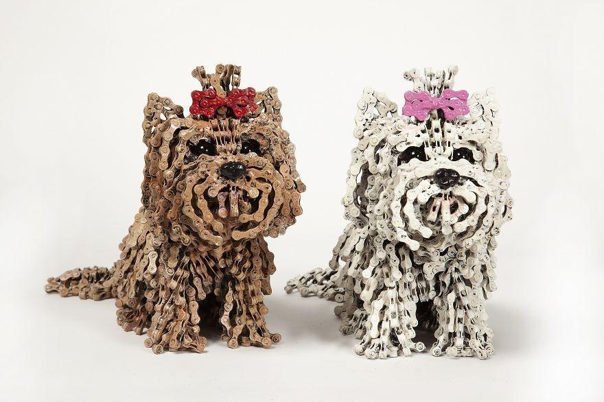 Як виглядають собаки в справжню величину, зроблені з велосипедів  - фото 2