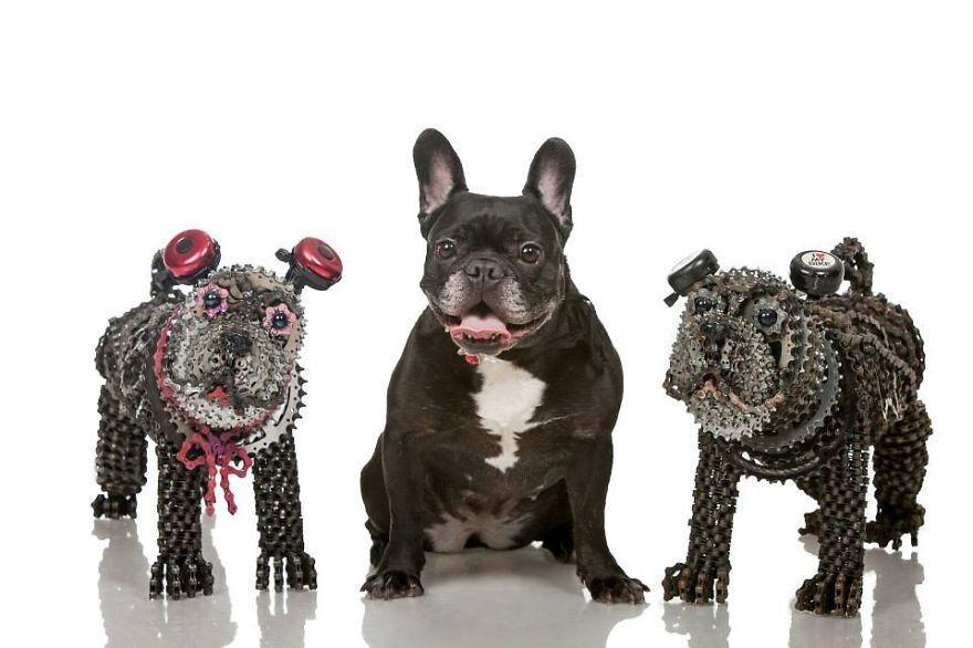 Як виглядають собаки в справжню величину, зроблені з велосипедів  - фото 1