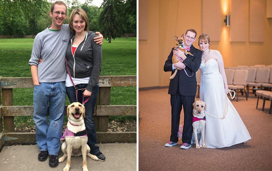Як службова собака заспокоювала наречену на весіллі  - фото 4
