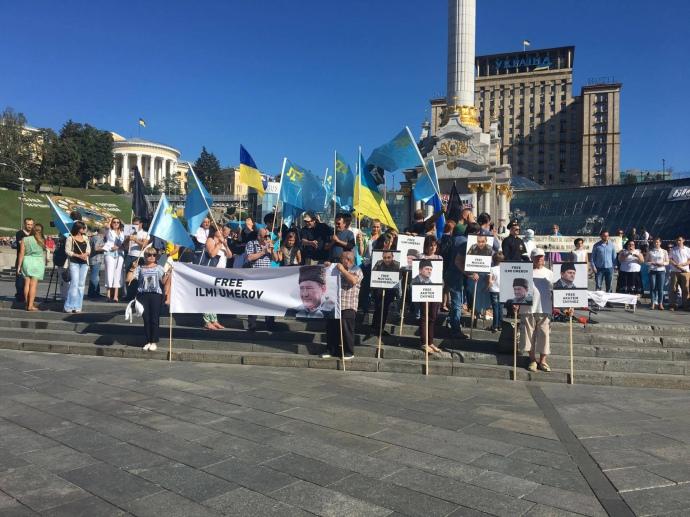 На Майдані кримські татари та Афанасьєв підтримують Умерова - фото 1