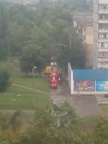 У Харкові спалахнула п'ятиповерхівка  - фото 1
