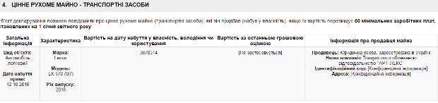 "Добкін-молодший купив ""Лексус"" за майже 4 млн грн - фото 1"