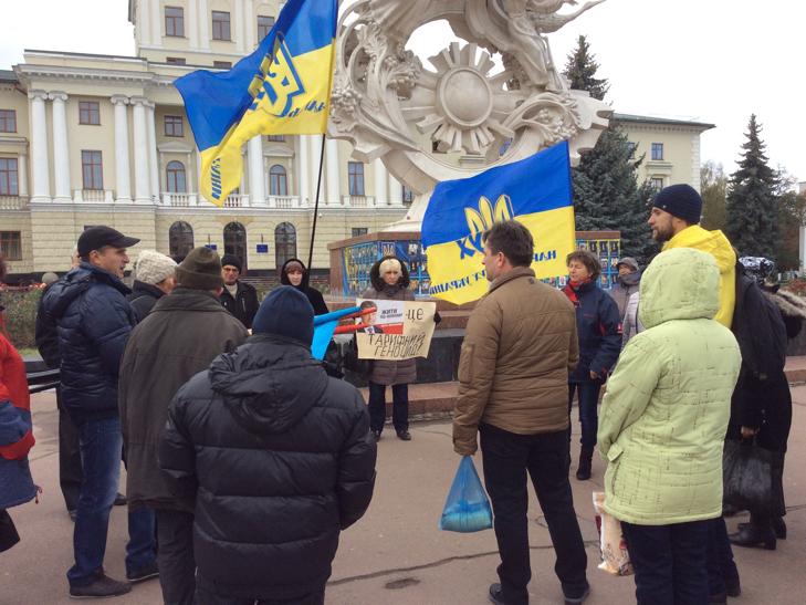 """У Хмельницькому мітингували """"проти зубожіння"""" - фото 3"""