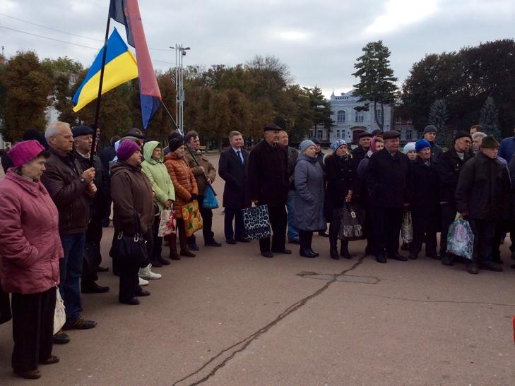 """У Хмельницькому мітингували """"проти зубожіння"""" - фото 5"""