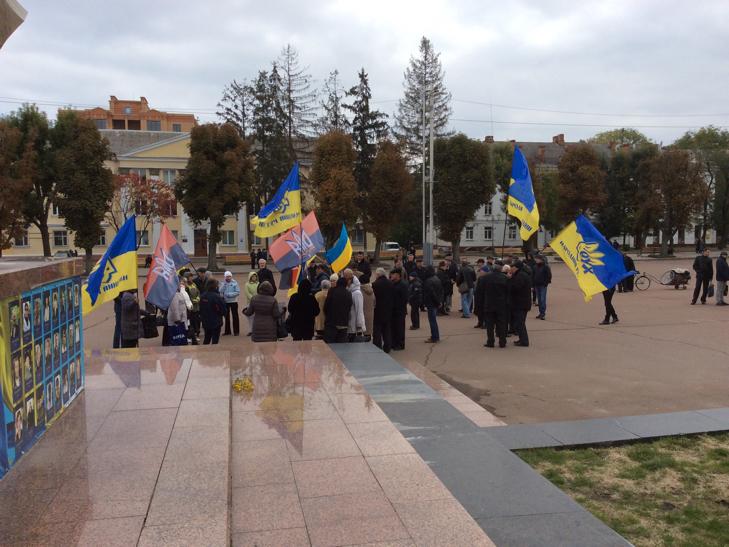 """У Хмельницькому мітингували """"проти зубожіння"""" - фото 6"""