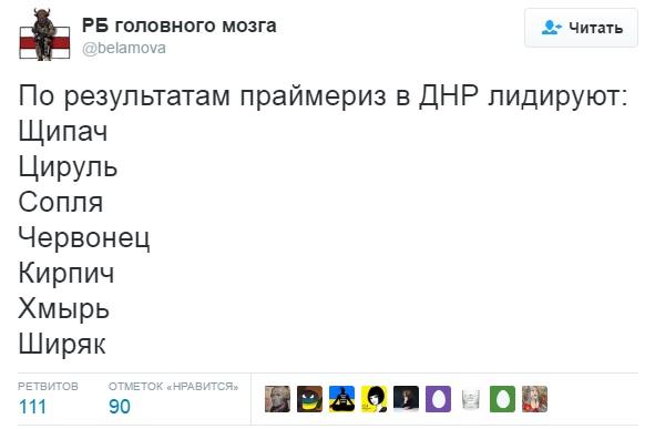 """""""Шнирь чи Кірпіч?"""": як соцмережі стібуться з """"праймеріз"""" в """"ЛНР"""" - фото 1"""
