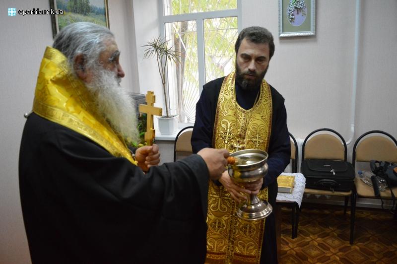 Миколаївський департамент соцзахисту освятили священники УПЦ Московського патріархата