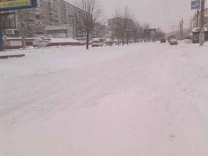 Полтава потерпає від снігопадів - фото 6