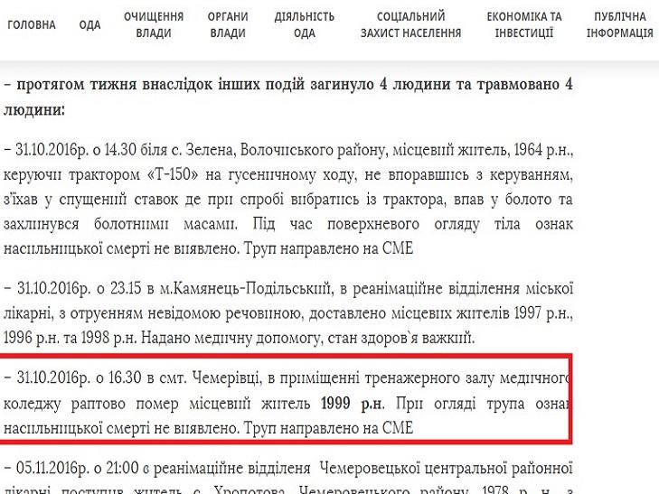Директор медколеджу спростував інформацію про загибель студента у Чемерівцях - фото 1