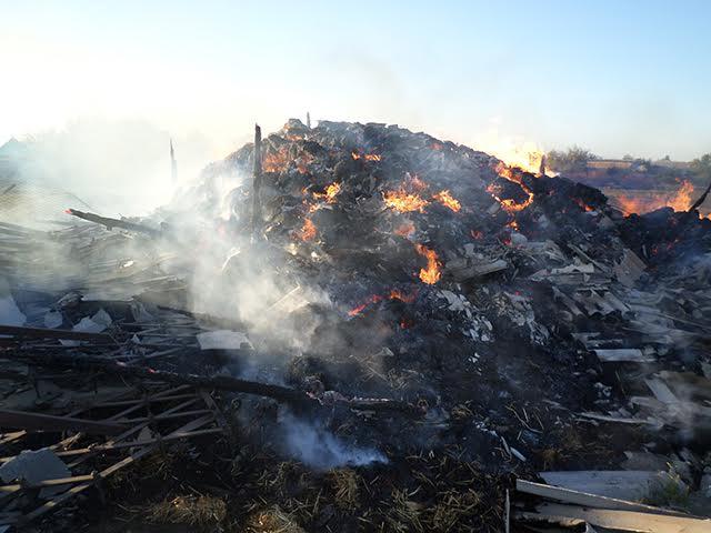 На Миколаївщині горіло 10 тонн сіна
