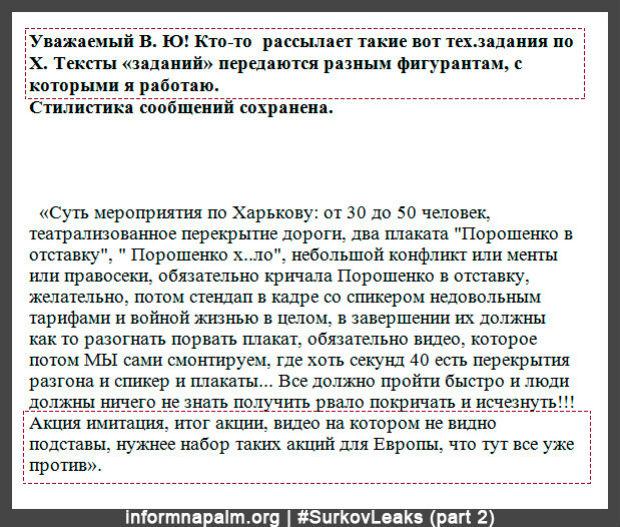 Сурков координував дестабілізацією Харкова у 2014 році, - переписка (ФОТО) - фото 5