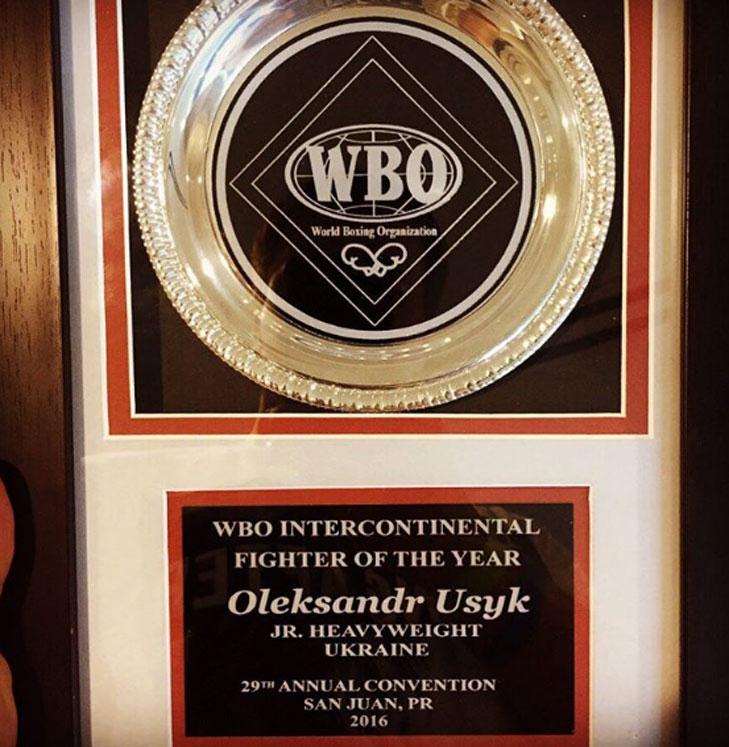WBO визнала Олександра Усика боксером року - фото 1