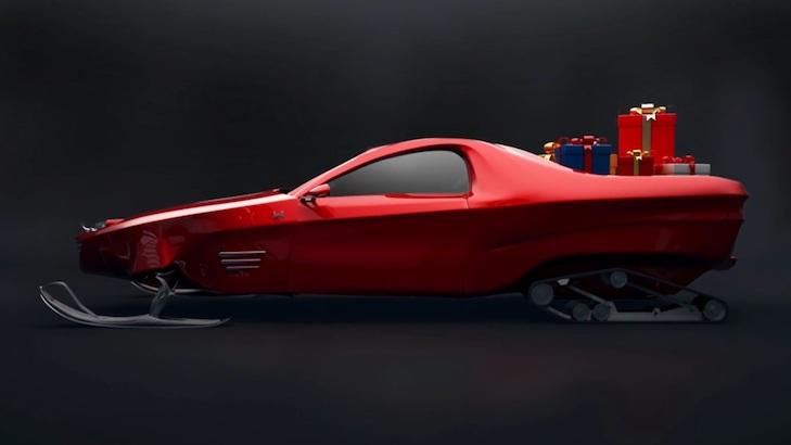 """Суперкар для дідуся: Американці зробили для Санта-Клауса """"санчата"""" з автопілотом - фото 1"""