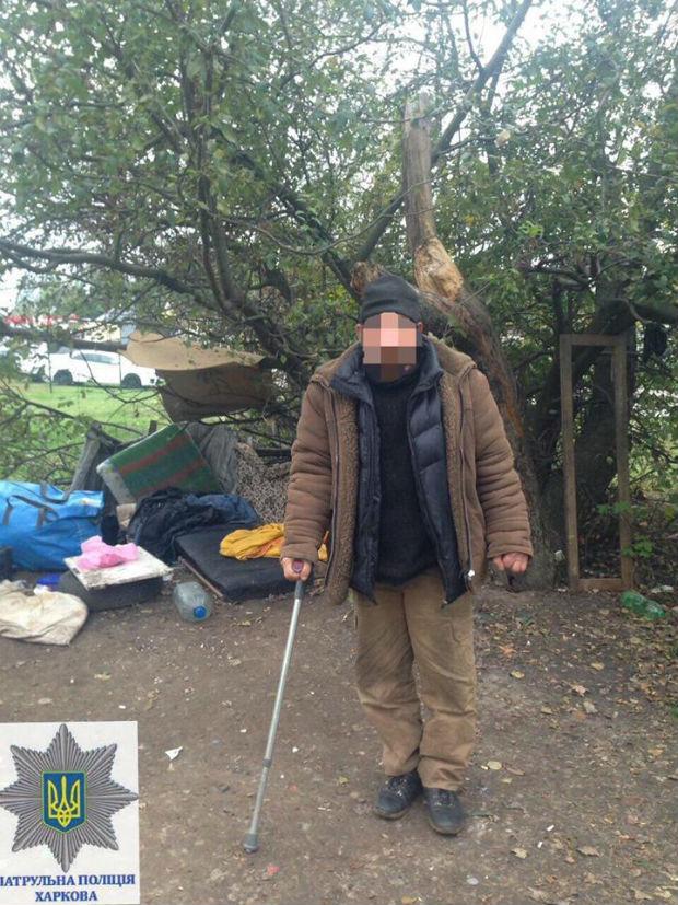 Харківські патрульні прилаштували безпритульного, який не мав будинку більше 25 років - фото 1