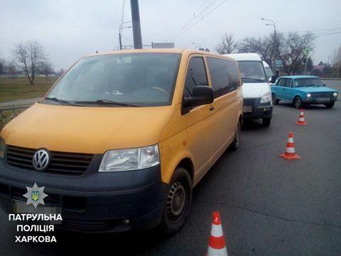 На проспекті Гагаріна врізалися два мікроавтобуса (ФОТО) - фото 1