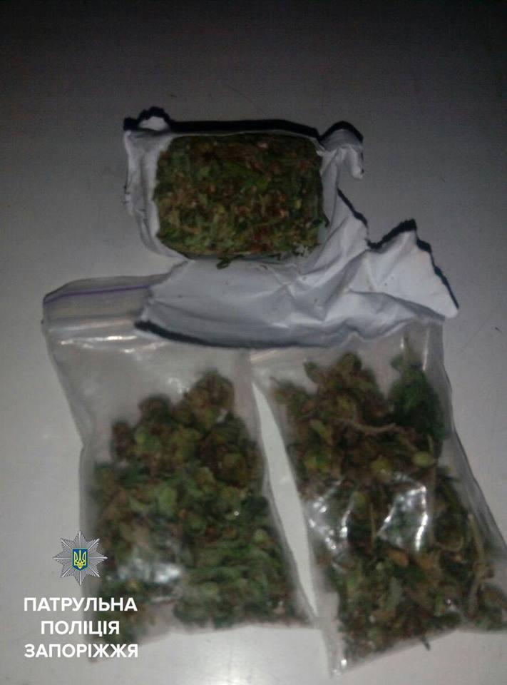 Запорізькі патрульні затримали підлітка з наркотиками - фото 1