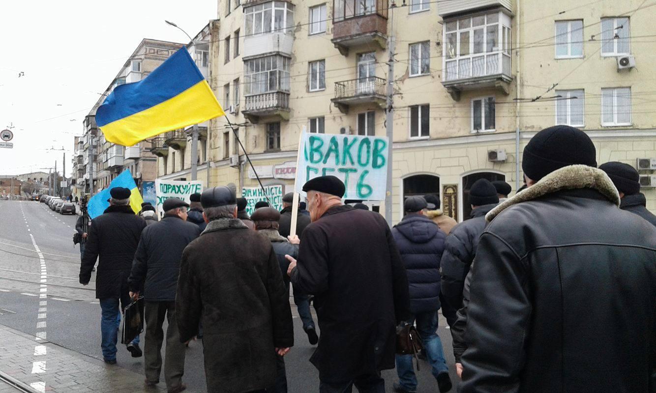 У Вінниці збунтувались колишні міліціонери: Вимагають збільшення пенсій та відставки Авакова - фото 8