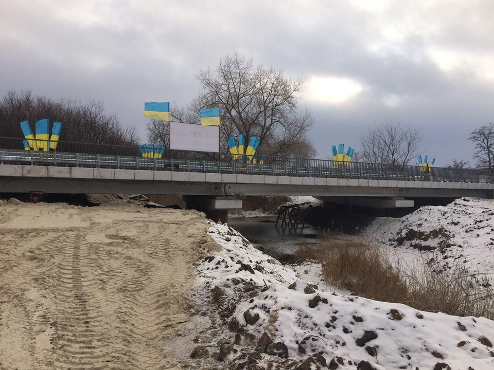ВСеверске восстановили уничтоженный боевиками мост
