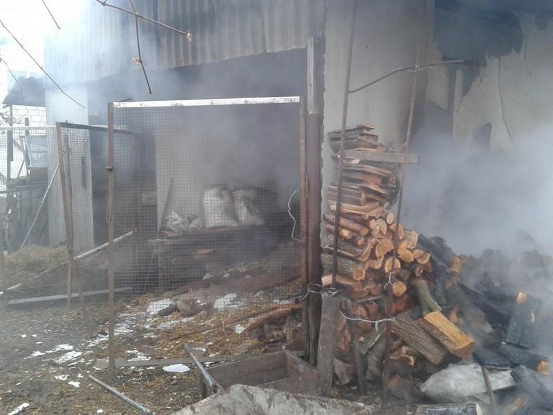 На подвір'ї вінничан за півгодини згоріли всі заготовлені на зиму дрова - фото 1