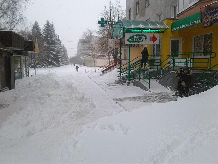 Полтава потерпає від снігопадів - фото 4