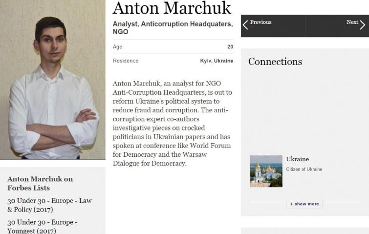 Трое молодых украинцев вошли впрестижный рейтинг Forbes