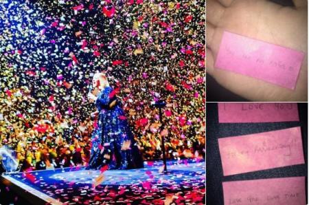 Адель на концерті засипав тисячами любовних записок бойфренд - фото 1